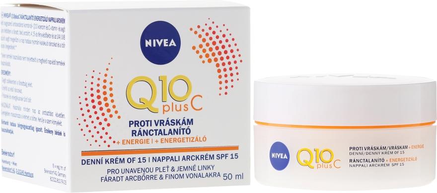 Крем против бръчки - Nivea Q10 Plus Energizing Anti-Wrinkle Day Cream SPF15 — снимка N1