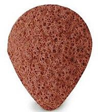 Парфюмерия и Козметика Гъба за измиване, капка, с червена глина - Bebevisa Konjac Sponge