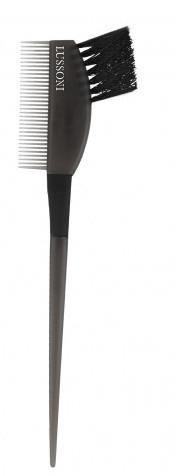 Четка за боядисване на коса с гребен, черна - Lussoni