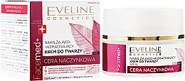Парфюми, Парфюмерия, козметика Хидратиращ крем за лице с червена боровинка - Eveline Cosmetics Facemed+ Face Cream