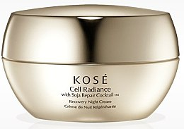 Парфюмерия и Козметика Възстановяващ нощен крем за лице - KOSE Soja Repair Cocktail Cell Radiance Recovery Night Cream
