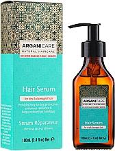 Парфюмерия и Козметика Серум за коса масло от ший и арган - Arganicare Shea Butter Hair Serum