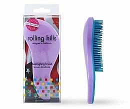 Парфюмерия и Козметика Четка за коса, светлолилава - Rolling Hills Detangling Brush Travel Size Light Purple