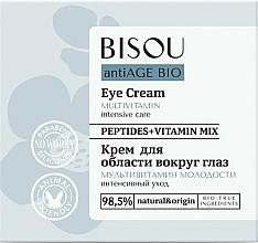Парфюмерия и Козметика Мултивитаминен околоочен крем - Bisou AntiAge Bio Eye Cream