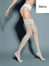 """Парфюмерия и Козметика Дълги дамски чорапи """"Calze Mary"""" 15 Den, bianco - Veneziana"""