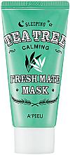 Парфюмерия и Козметика Нощна маска за лице с чаено дърво - A'pieu Fresh Mate Tea Tree Mask