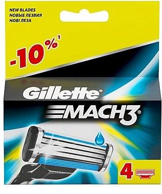 Сменяеми ножчета за бръснене, 4 бр. - Gillette Mach3 — снимка N4