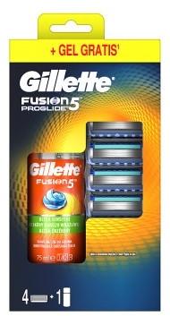 Комплект - Gillette Fusion5 ProGlide (ножчета/4 бр. + гел за бръсн./75ml)