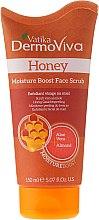Парфюми, Парфюмерия, козметика Скраб за лице с мед - Dabur Vatika DermoViva Honey Moisture Boost Face Scrub