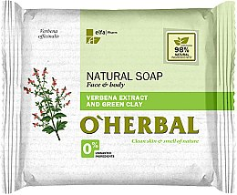 Парфюмерия и Козметика Натурален сапун с екстракт от върбинка и зелена глина - O'Herbal Natural Soap