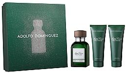Парфюмерия и Козметика Adolfo Dominguez Agua Fresca Vetiver - Комплект (тоал. вода/120ml + аф. балсам/75ml + душ гел75ml)