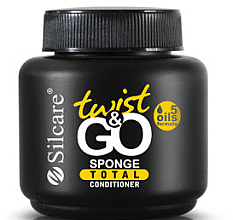 Парфюмерия и Козметика Подхранващ балсам за нокти и кожички, с гъба - Silcare Twist & Go Sponge Total Conditioner