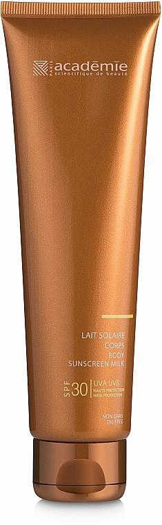 Слънцезащитно мляко за тяло SPF 30+ - Academie Bronzecran Body Sunscreen Milk High Protection — снимка N2