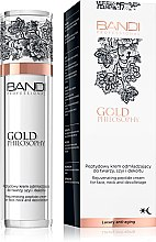 Парфюмерия и Козметика Крем за лице, шия и деколте против бръчки с пептиден комплекс - Bandi Professional Gold Philosophy Rejuvenating Peptide Cream