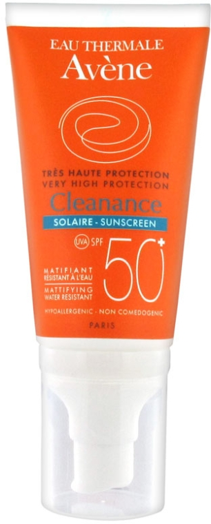 Слънцезащитен крем - Avene Solaire Cleanance Cream for Sensitive Oily Skin SPF 50 — снимка N1