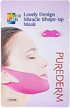 Парфюмерия и Козметика Маска за брадичка и скули - Purederm Lovely Design Miracle Shape-up V-line Mask