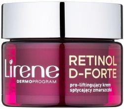 Парфюми, Парфюмерия, козметика Успокояващ дневен крем за корекция на бръчките - Lirene Retinol D-Forte Face Cream 50+