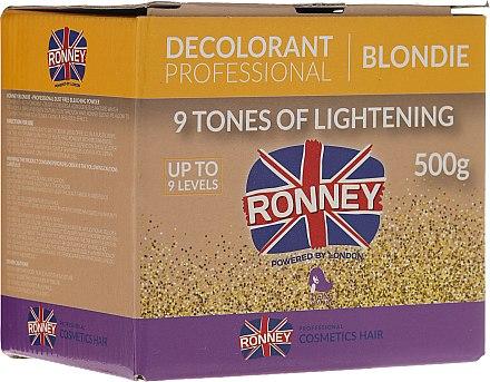 Изсветляваща пудра за коса до 9 тона - Ronney Decolorant Professional Blondie — снимка N1