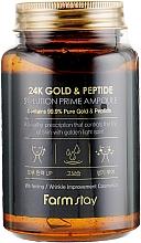 Парфюмерия и Козметика Антистареещ серум за лице с 24K злато и пептиди - FarmStay 24K Gold & Peptide Solution Prime Ampoule