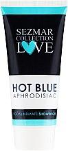 Парфюмерия и Козметика Душ гел за тяло и интимна хигиена - Hristina Cosmetics Sezmar Collection Love Hot Blue Aphrodisiac Shower Gel