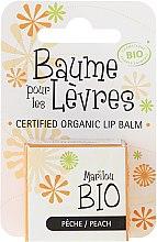 """Парфюмерия и Козметика Балсам за устни """"Праскова"""" - Marilou Bio Certified Organic Lip Balm Peach"""