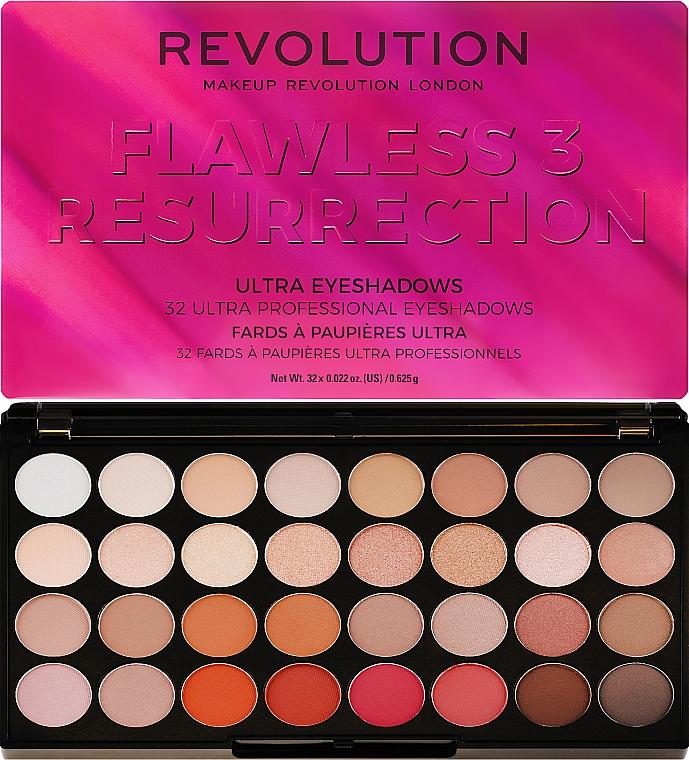 Палитра сенки за очи, 32 цвята - Makeup Revolution Ultra 32 Shade Palette Flawless 3 Resurrection