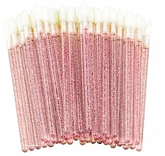 Парфюмерия и Козметика Апликатори за мигли, вежди и устни, розови с блясък - Lewer