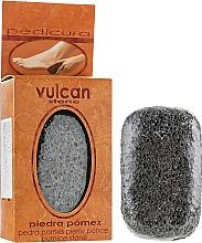 Парфюмерия и Козметика Пемза за крака, 98x58x37мм, Dark Grey - Vulcan Pumice Stone