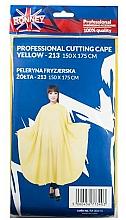 Парфюмерия и Козметика Пелерина за подстригване, жълта - Ronney Professional Cutting Cape