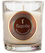 """Парфюмерия и Козметика Ароматна свещ """"Сандалово дърво"""" - Flagolie Fragranced Candle Sandalwood"""