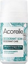 Парфюми, Парфюмерия, козметика Освежаващ рол-он дезодорант с аромат на лотос и бергамот - Acorelle Deodorant Care