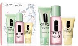 Парфюмерия и Козметика Комплект - Clinique 3-Step System Type III (soap/50ml + lot/100ml + Gel/30ml)