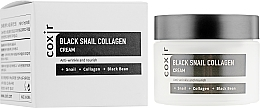 Парфюмерия и Козметика Антистареещ подхранващ крем за лице - Coxir Black Snail Collagen Cream Anti-Wrinkle And Nourish