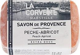 """Парфюми, Парфюмерия, козметика Провансалски сапун """"Праскова-кайсия"""" - La Corvette Provence Soap Peach-Apricot"""