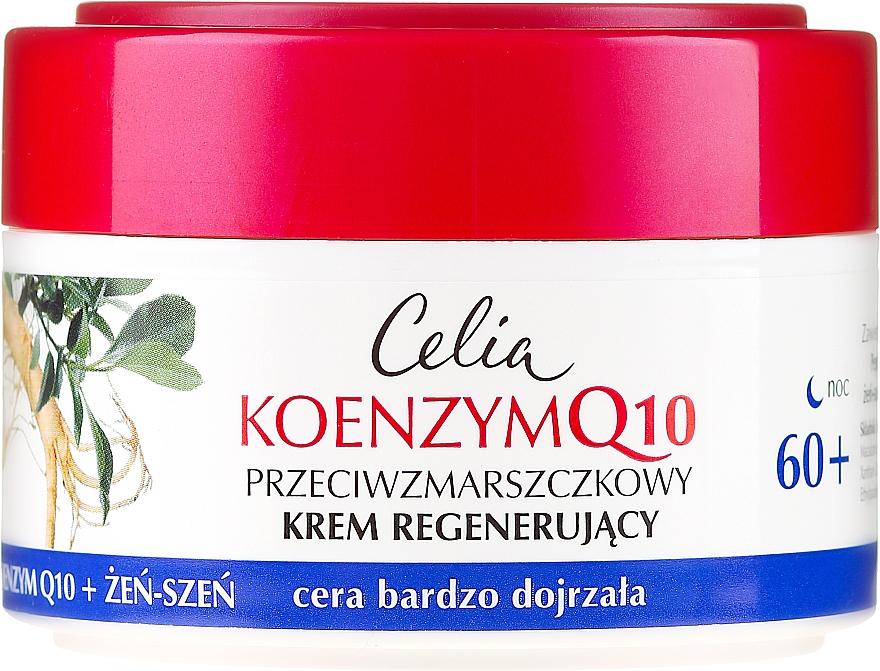 Възстановяващ нощен крем за лице - Celia Coenzyme Q10 60+