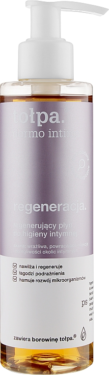 Гел за интимна хигиена - Tolpa Dermo Intima Regenerating Liquid For Intimate Hygiene