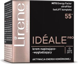 Парфюми, Парфюмерия, козметика Изглаждащ дневен крем за лице - Lirene Ideale Pro 55+ Day Cream
