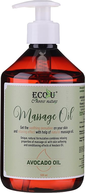 Масажно масло с авокадо - Eco U Avocado Massage Oil