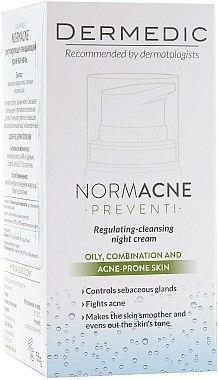 Нощен крем за лице - Dermedic Normacne Preventi Regulating Night Cream — снимка N3