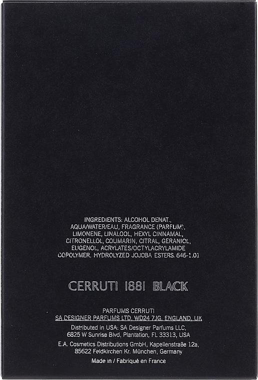 Cerruti 1881 Black - Тоалетна вода — снимка N2