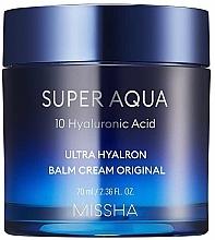 Парфюмерия и Козметика Хидратиращ хиалуронов крем-балсам за лице - Missha Super Aqua Ultra Hyalron Balm Cream Original