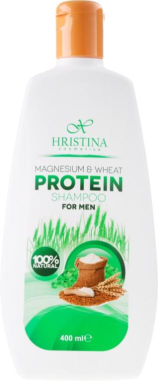 Шампоан за мъже с магнезий и пшенични протеини - Hristina Cosmetics Magnesium & Wheat Protein Shampoo For Men