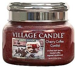 Парфюми, Парфюмерия, козметика Ароматна свещ в бурканче - Village Candle Cherry Coffee Cordial Glass Jar