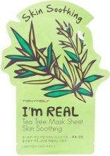 Парфюми, Парфюмерия, козметика Памучна маска за лице с чаено дърво - Tony Moly I'm Real Tea Tree Mask Sheet