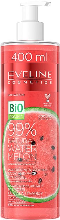 Хидрогел от диня за тяло и лице - Eveline Cosmetics 99% Natural Watermelon