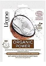 Парфюми, Парфюмерия, козметика Възстановяваща маска против бръчки - Lirene Organic Power Anti-Ageing Regenerating Sheet Mask