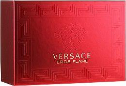 Парфюмерия и Козметика Versace Eros Flame - Комплект (парф. вода/100ml + парф. вода/10ml + козм. чанта)