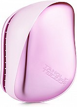 Парфюмерия и Козметика Компактна четка за коса - Tangle Teezer Compact Styler Baby Doll Pink Chrome
