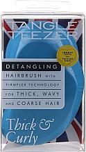 Парфюмерия и Козметика Четка за коса , синя - Tangle Teezer Thick & Curly Azure Blue