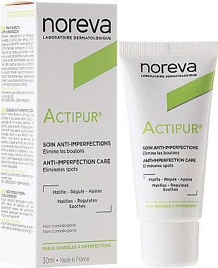 Матиращ крем за лице - Noreva Actipur Anti-Imperfections Matifying Cream — снимка N1